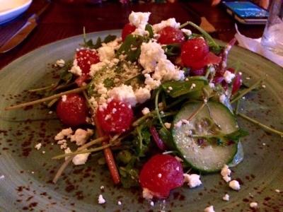 watermelon & feta salad at elevage