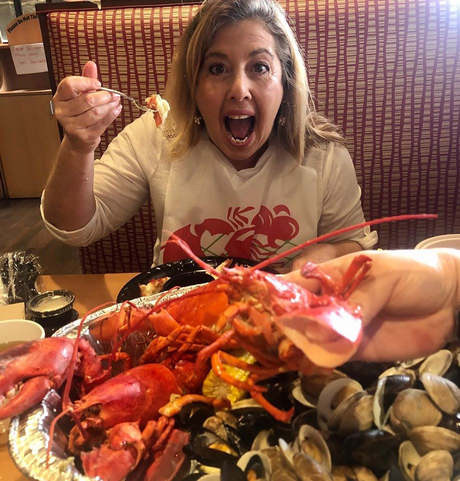 Denise enjoys New England Seafood Shack in Coral Springs